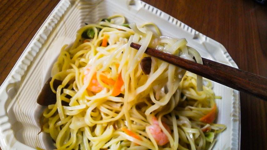 「海老と6種野菜の塩焼そば」実食!