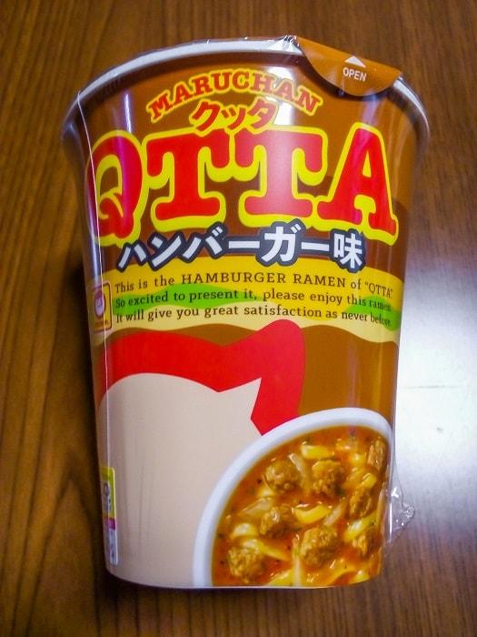 「QTTA ハンバーガー味」のパッケージ