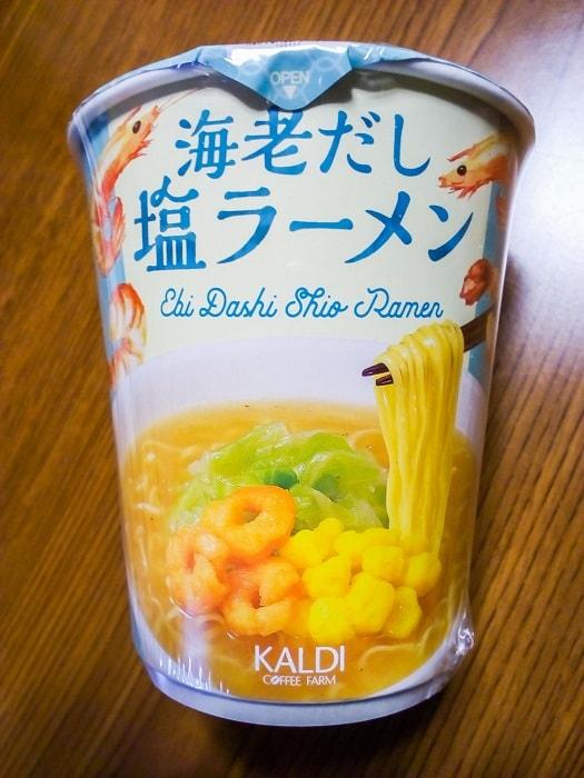 「海老だし塩ラーメン」のパッケージ