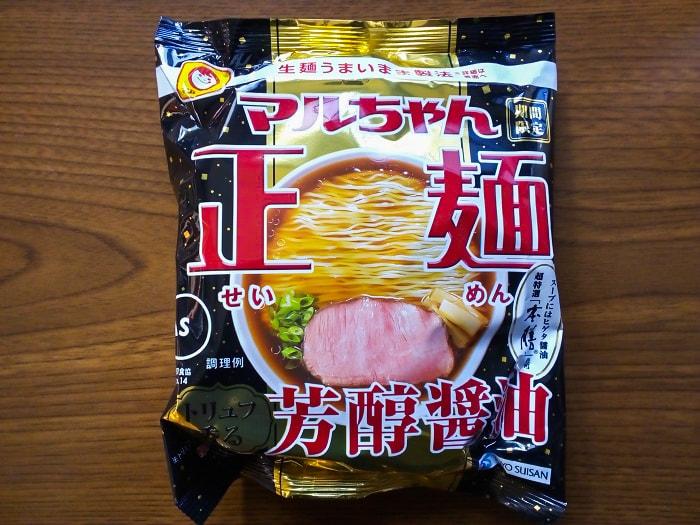 「マルちゃん正麺 トリュフ香る芳醇醤油」のパッケージ