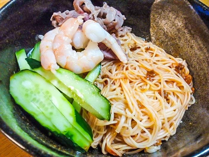 「具麺 韓国ビビン麺風」調理後