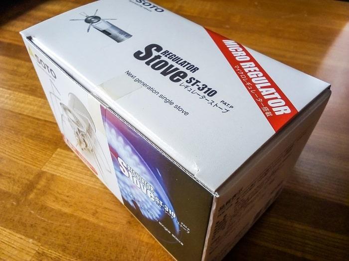 「レギュレーターストーブ ST-310」の箱