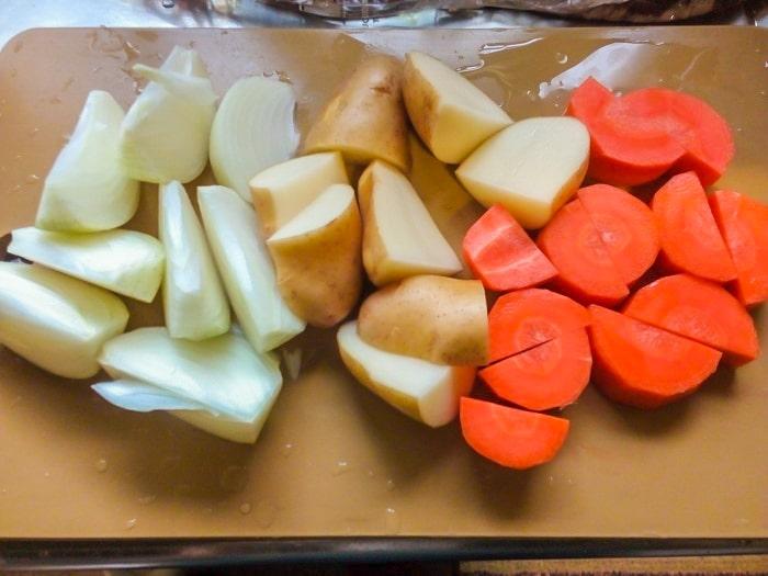 だいたい一口大に切った野菜