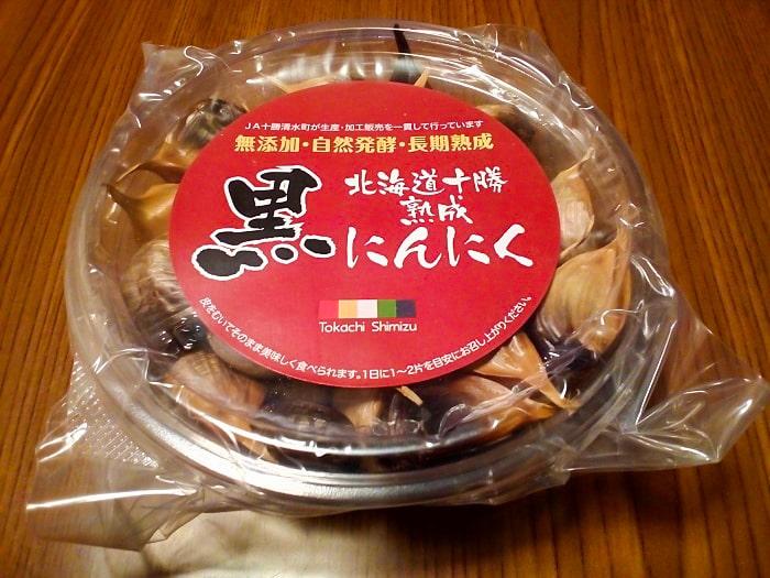 「北海道十勝熟成 黒にんにく」のパッケージ