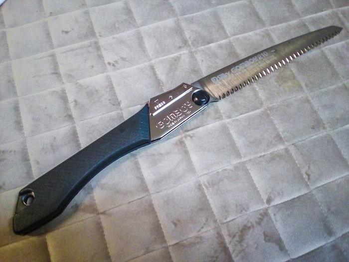 「ゴムボーイ万能目 210mm」刃の展開状態