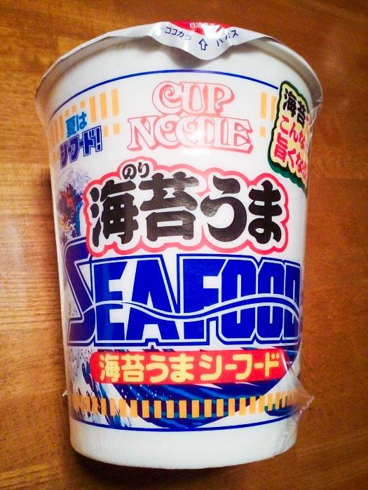 「カップヌードル 海苔うまシーフード ビッグ」のパッケージ