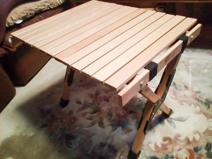 「ウッドトップロールテーブル」組み立て完了