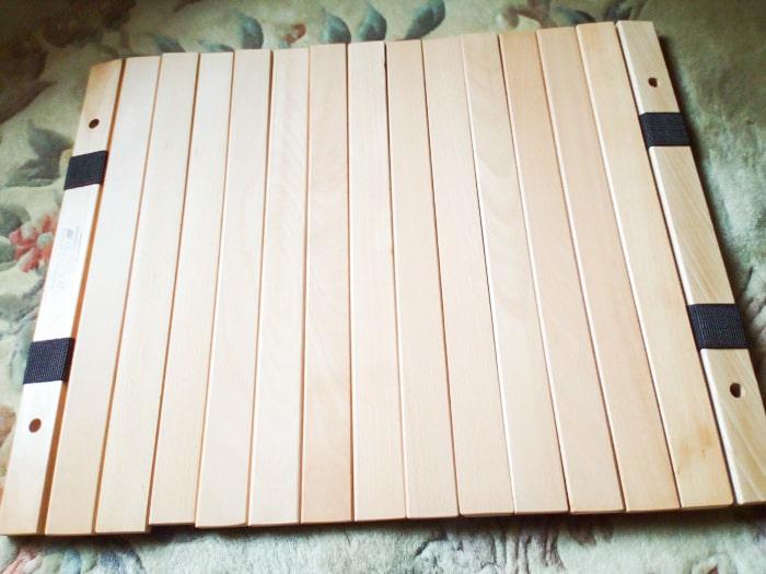 「ウッドトップロールテーブル」の天板表