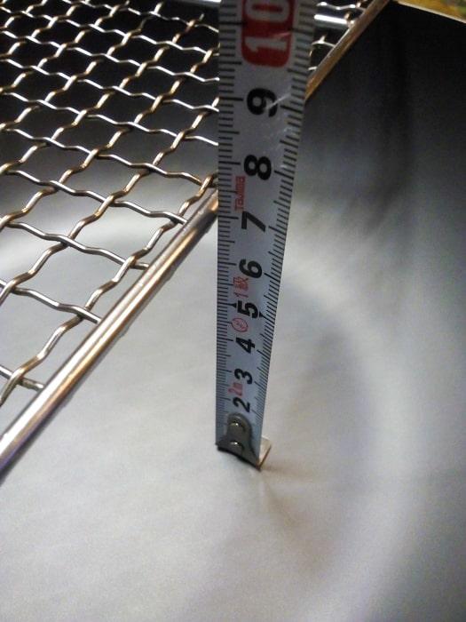 「極JAPAN 炒め鍋 26cm」深さを実測